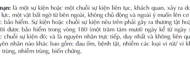 Định nghĩa tai nạn trong bảo hiểm nhân thọ Dai-ichi-life