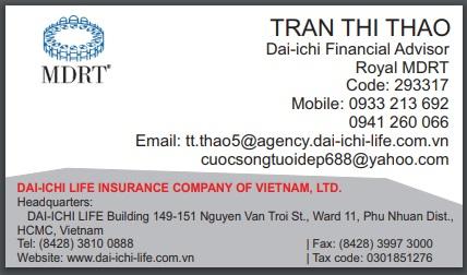 Tư vấn tài chính MDRT bảo hiểm nhân thọ Dai-ichi Life Việt Nam tại trụ sở chính TP.HCM - 0933 213 692