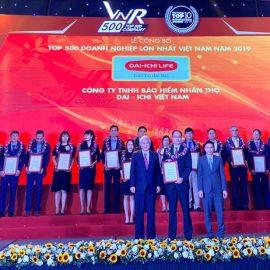 Dai-ichi Life VN được xếp hạng 106 trong Top 500 doanh nghiệp lớn nhất VN 2019