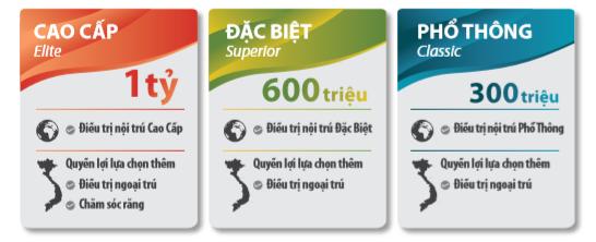 Mệnh giá bảo hiểm chăm sóc sức khỏe toàn cầu của BHNT Dai-ichi